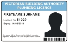 VBA sample licence card