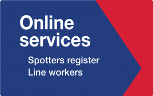 Online services for Spotters and line workers