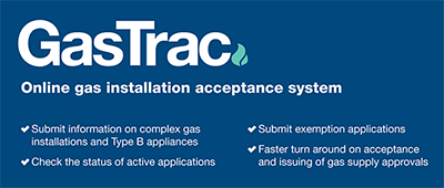 GasTrac image - online gas installation acceptance system